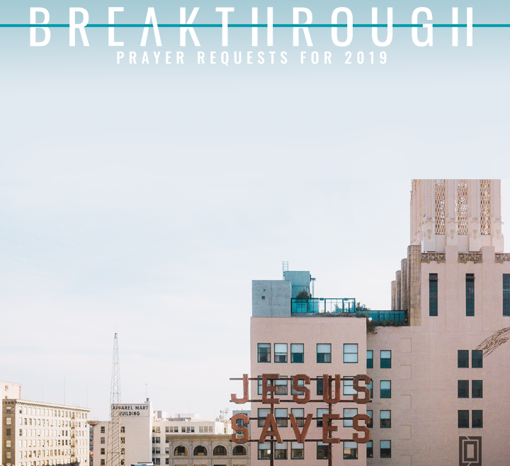 Breakthrough Prayers 2019